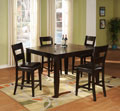 Dark Chocolate Pub Table with 4 Stools