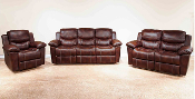 Chestnut Double Reclining Loveseat with Console