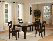 Dark Chocolate Dining Table with 4 Chairs