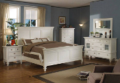 Summer Breeze-White Five Piece Queen Bedroom