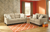 Laryn-Khaki Sofa and Loveseat