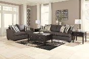 Levon-Charcoal Sofa and Loveseat