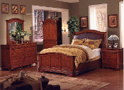 King Louis 3 Piece Queen Bedroom Suite