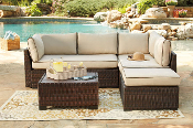 Loughran Sectional with Ottoman and Table