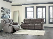 Tulen-Grey Reclining Sofa and Loveseat