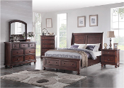 Five Piece Queen Platform Storage Bedroom