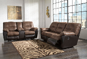 Follett Reclining Sofa and Loveseat
