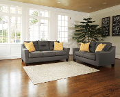 Forsan-Nuvella Grey Sofa and Loveseat