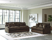 Bisenti-Chocolate Sofa and Loveseat