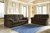 Gosnell-Chocolate Sofa and Loveseat