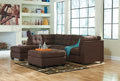 Maier-Walnut 2 piece Sectional