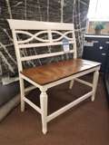 Farmhouse Pub Bench with Back