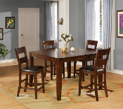 Burnished Dining Pub Table with 4 Stools