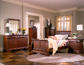 Nicolet-Cherry Twin Sleigh Bed