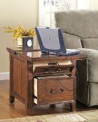 Woodboro Workstation End Table