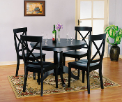 Black Round Table with 4 Chairs