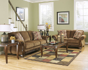 Montgomery-Mocha Sofa and Loveseat