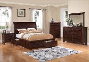 Sonoma Eight Piece Queen Platform Bedroom with Storage