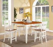 Pub Dining Table with Four Pub Chairs