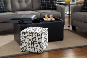 Brindon-Charcoal Storage Ottoman