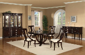 Dining Table with 4 Chairs and Sideboard