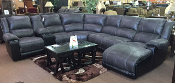 Nantahala Slate Reclining Sectional