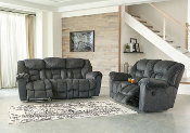 Capehorn-Granite Reclining Sofa OR Reclining Console Loveseat