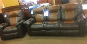 Hideout-Saddle Reclining Sofa and Recliner