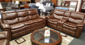 Mocha Reclining Sofa and Loveseat