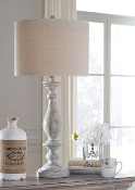 Bernadate-Whitewash Table Lamp