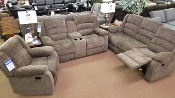 Grey Reclining Loveseat