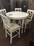 Round Pub Table with Four Pub Chairs