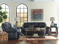 Millhaven-Navy Double Reclining Sofa OR Console Loveseat