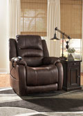 Barling Power Recliner with Adjustable Headrest and Lumbar